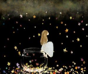 art, fantasy, and stars image