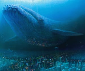 city, fiction, and whale image