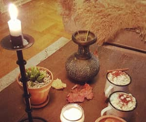 autumn, candel, and cozy image