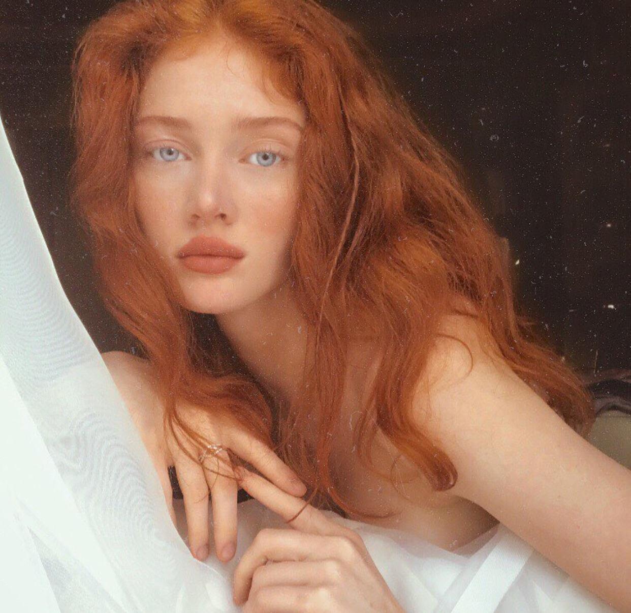 girl, beautiful, and redhead image