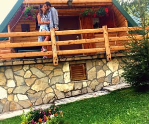 bungalow, house, and kiss image