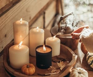 autumn, candle, and fall image