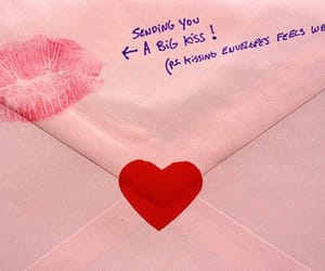 pink, Letter, and heart image