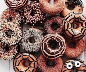 donuts, food, and autumn image