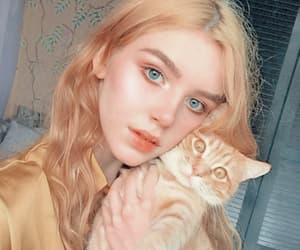 girl, alternative, and cat image