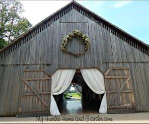 country wedding, wedding, and barn wedding image