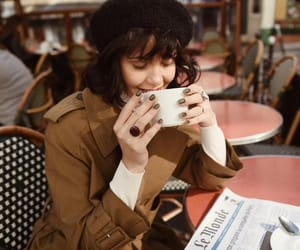 beret, brown, and coffee image