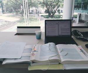 studying, book, and goals image