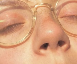 glasses, aesthetic, and freckles image
