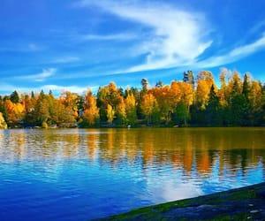 autumn, blue, and fall image