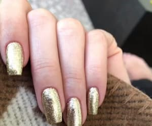 nails, fall, and gold image