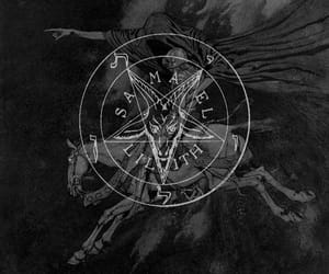black and white, death, and demons image