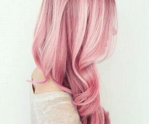 colored hair, pink, and pink hair image