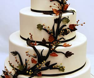 cake, autumn, and dessert image