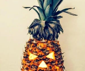 Halloween, pineapple, and pumpkin image