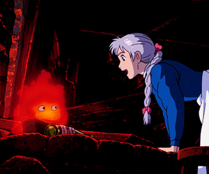 anime, ghibli, and howl's moving castle image