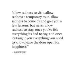 happiness, quote, and sadness image
