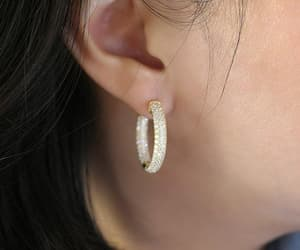 earrings, Pave, and crystalearrings image