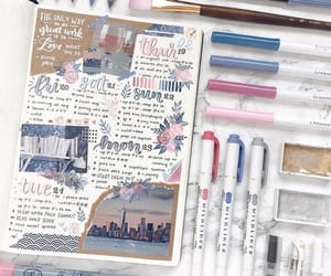 blue, journaling, and them image