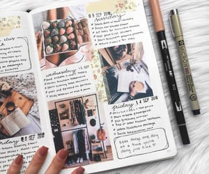 coffee, diary, and inspiration image