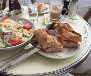 food, breakfast, and salad image