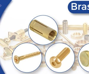 brass anchors, brass fasteners, and wing nuts image