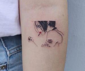 aesthetics, pink, and tattoo image