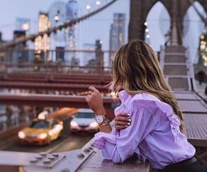 city, girl, and fashion image