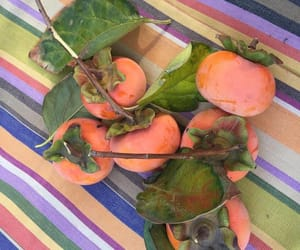 fruit, peaches, and stripes image
