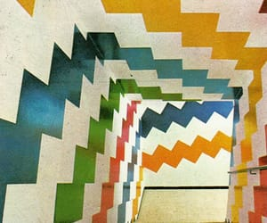 colors, stripes, and staircase image