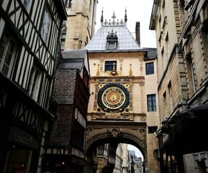 clock, france, and street image