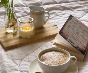 beautiful, coffee, and book image