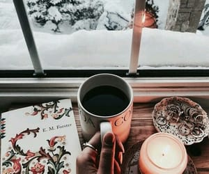 snow, winter, and coffee image