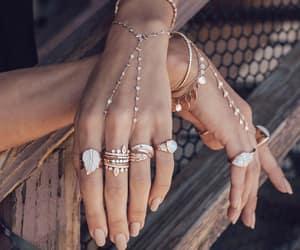 boho, gold, and jewelry image