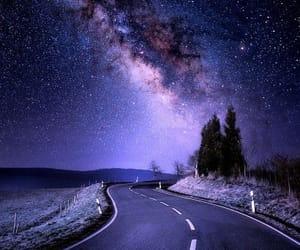 stars, night, and road image