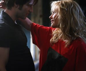 anna paquin, bill compton, and sookie stackhouse image