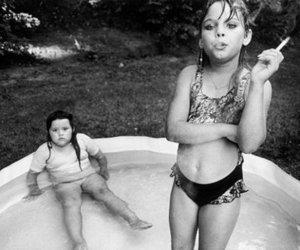 child, children, and smoke image