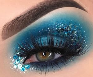 makeup, blue, and model image