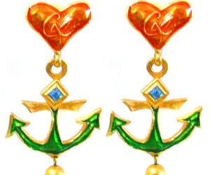 Christian Lacroix, vintage earrings, and cliponearrings image