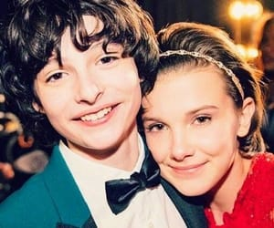 stranger things, millie bobby brown, and finn wolfhard image