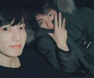 jungkook, taehyung, and v image