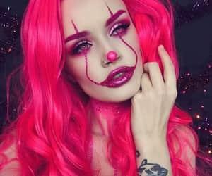 makeup, clown, and Halloween image