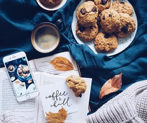 autumn, Cookies, and book image