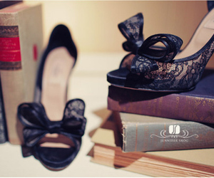shoes, heels, and books image