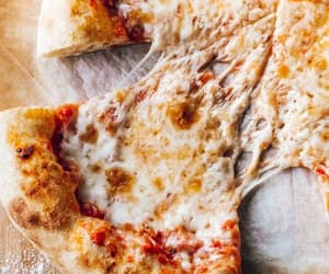 pizza, cheese, and food image
