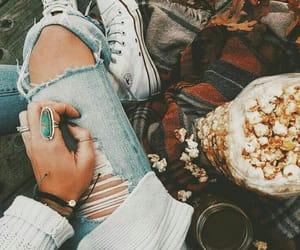 autumn, fall, and popcorn image