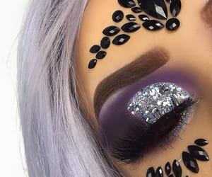 eyeshadow, Halloween, and fashion image