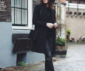 black, fall outfit, and boots image