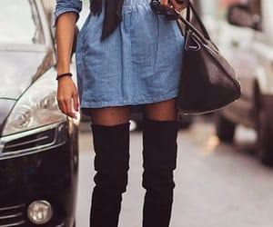 boots, dress, and long boots image