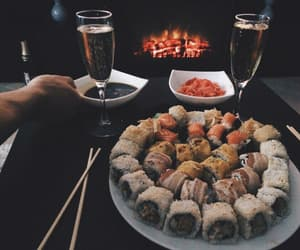 delicious, sushi, and food image